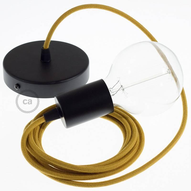 einzelpendel h ngelampe goldener honig baumwolle rc31. Black Bedroom Furniture Sets. Home Design Ideas