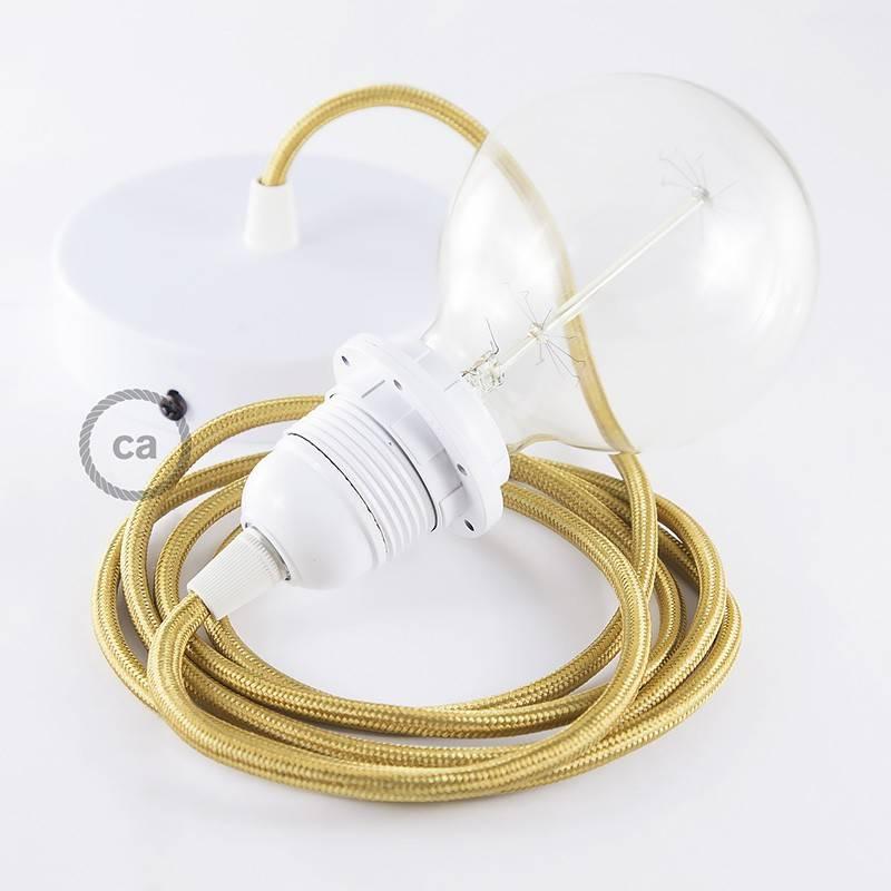 pendel f r lampenschirm h ngelampe gold seideneffekt rm05. Black Bedroom Furniture Sets. Home Design Ideas