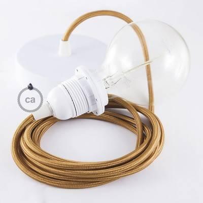 Pendel für Lampenschirm, Hängelampe Whiskey Seideneffekt RM22
