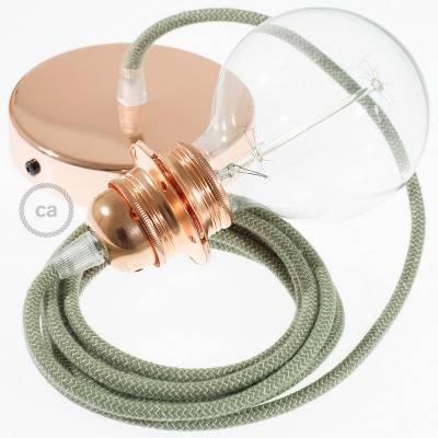 Pendel für Lampenschirm, Hängelampe Zick Zack Grün Thyme RD72