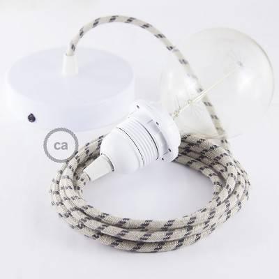 Pendel für Lampenschirm, Hängelampe Stripes Antrazit RD54