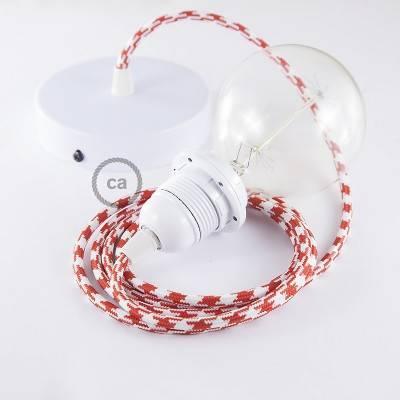 Pendel für Lampenschirm, Hängelampe Zweifarbig ot Rot RP09