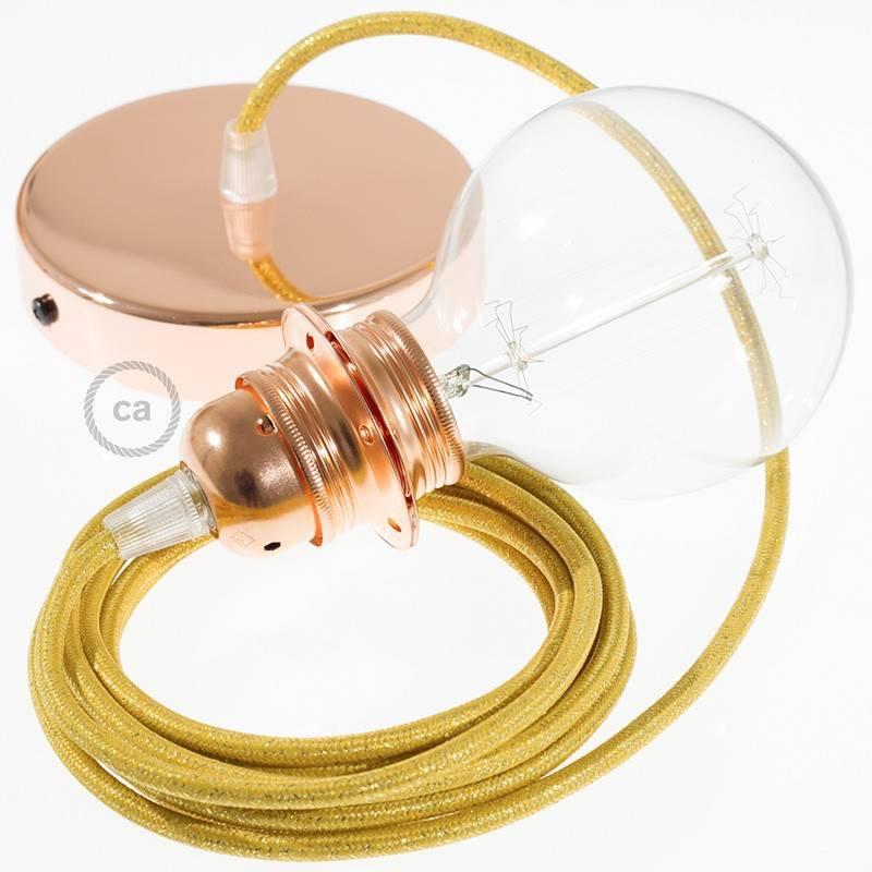 pendel f r lampenschirm h ngelampe geglittert gold rl05. Black Bedroom Furniture Sets. Home Design Ideas