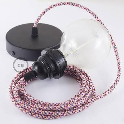 Pendel für Lampenschirm, Hängelampe Pixel Fuchsia RX00