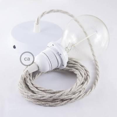 Pendel für Lampenschirm, Hängelampe Natürlichem Leinen TN01