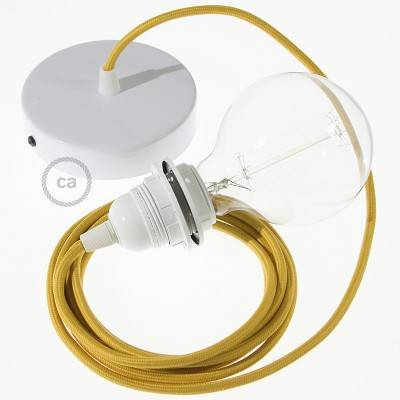 Pendel für Lampenschirm, Hängelampe Senf Seideneffekt RM25