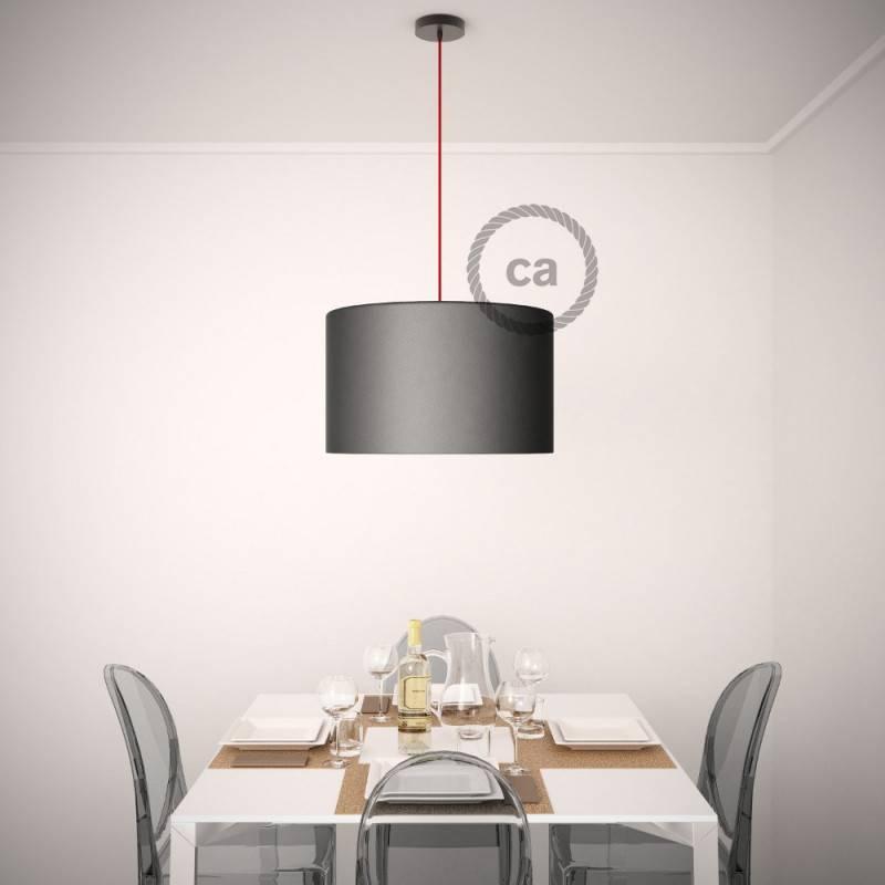 Pendel für Lampenschirm, Hängelampe Steingrau Baumwolle RC30