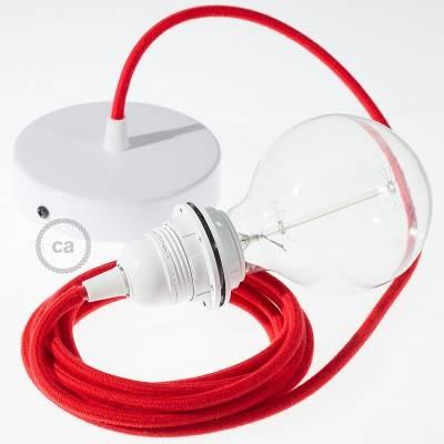 Pendel für Lampenschirm, Hängelampe Feuerrot Baumwolle RC35