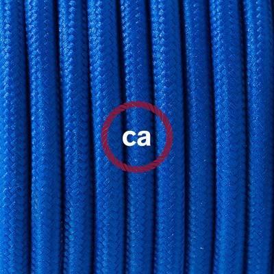 Porzellan Pendelleuchte, Hängelampe Blau Seideneffekt RM12