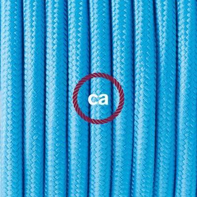 Porzellan Pendelleuchte, Hängelampe hellblau Seideneffekt RM11