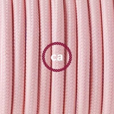 Porzellan Pendelleuchte, Hängelampe Baby Pink Seideneffekt RM16