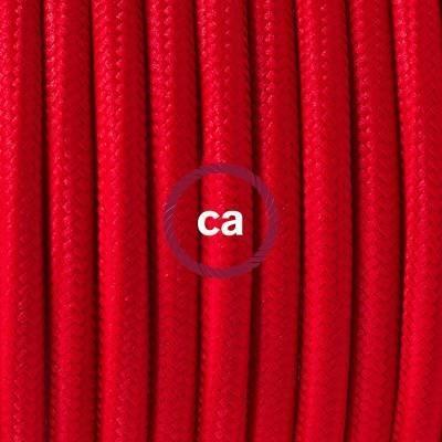 Porzellan Pendelleuchte, Hängelampe Rot Seideneffekt RM09