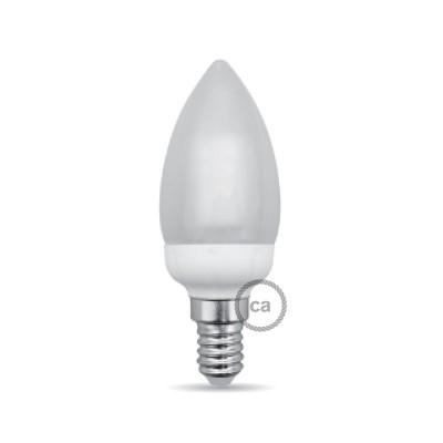Ovalförmige LED Glühbirne 4W E14 3000K umhüllt mit Milchglas