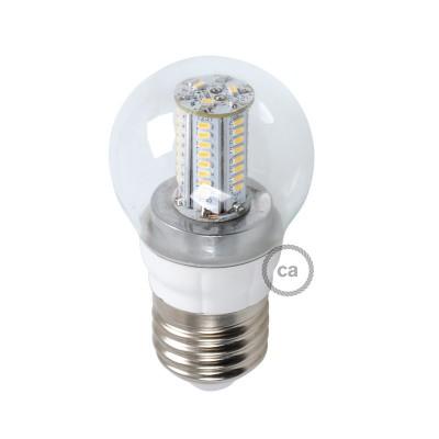 Kugelförmige LED Glühbirne 4W E14 5000K klar