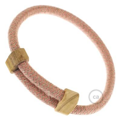 Armband aus Baumwolle und natürlichen Leinen Farbe: Antikrosa RD71 Verschluss: verstellbar