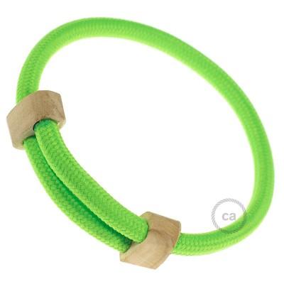 Textilarmband Farbe: Grün Fluo RF06 Verschluss: verstellbar