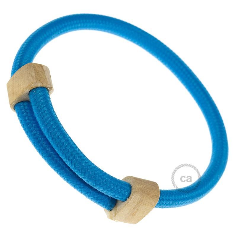 Textilarmband Farbe Hellblau Seideneffekt Rm11 Verschluss Verstellbar