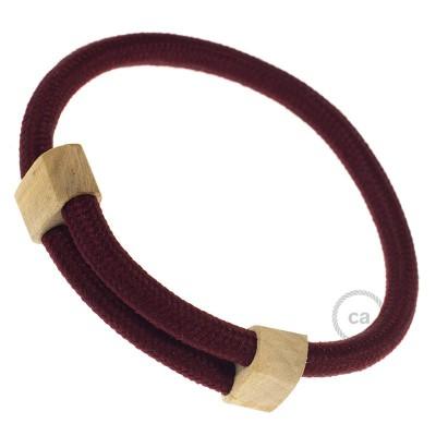 Textilarmband Farbe: Bordeaux Seideneffekt RM19 Verschluss: verstellbar