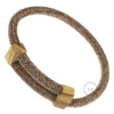 Armband aus Baumwolle und natürlichen Leinen Farbe: Braun geglittert RS82 Verschluss: verstellbar
