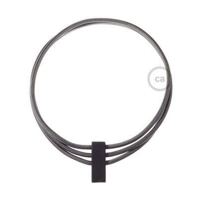 Kabel Collier Circles in Dunkelgrau RM26.