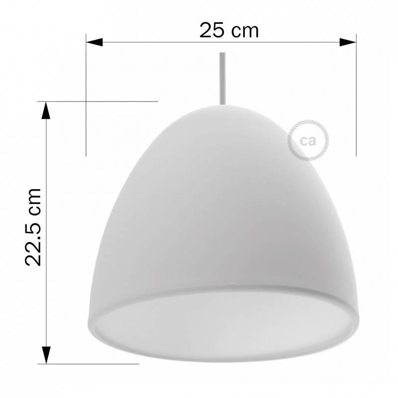 Silikon Lampenschirm schwarz ink Diffuser und Zugentlastung. 25 cm Durchmesser.