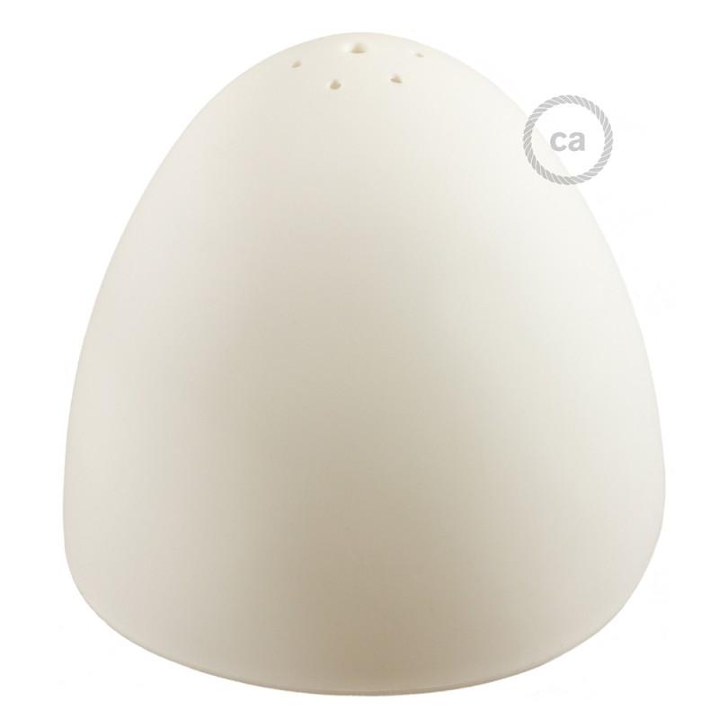 Silikon-Lampenschirm weiß ink Diffuser und Zugentlastung. 25 cm Durchmesser.