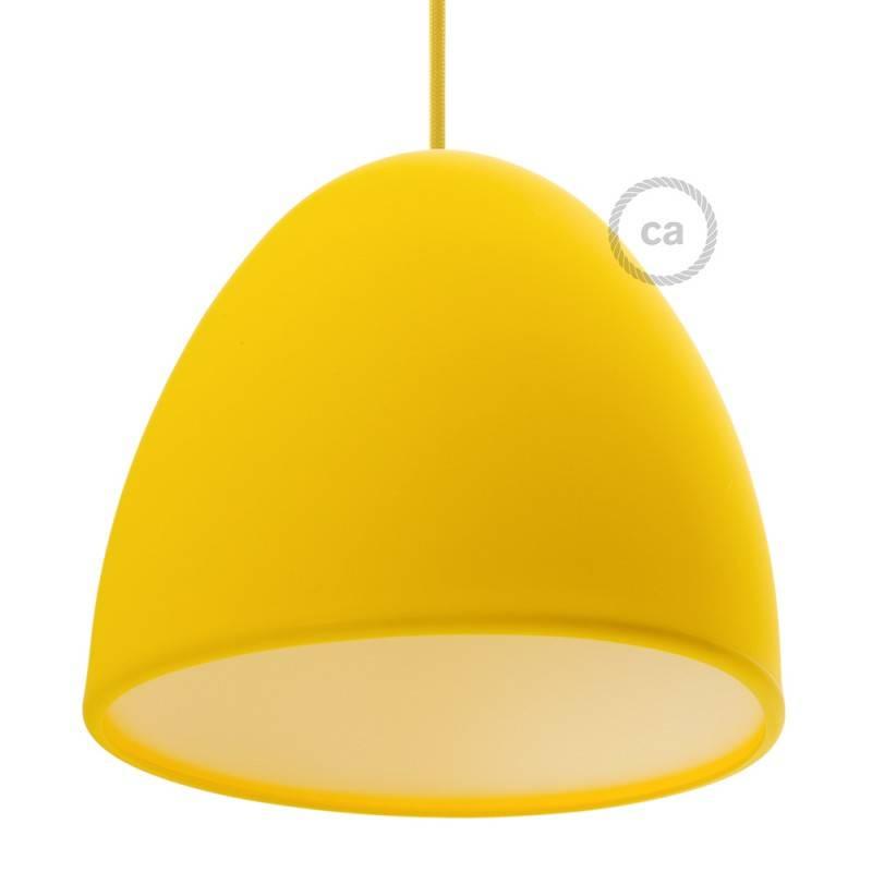 Silikon-Lampenschirm gelb ink Diffuser und Zugentlastung. 25 cm Durchmesser.