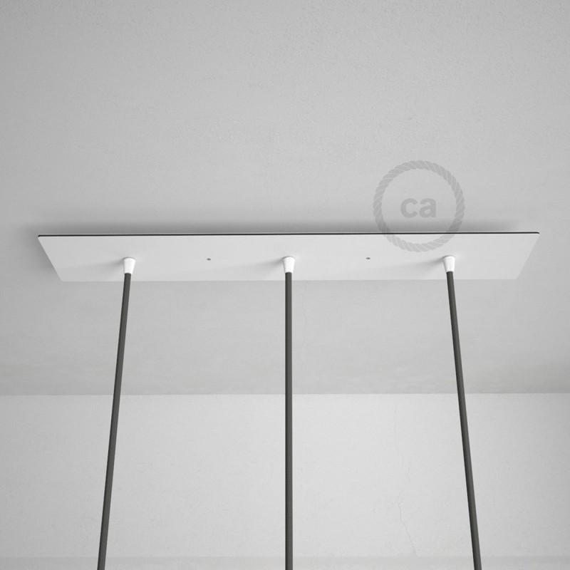 3 loch xxl baldachin rechteckig 60x12 cm wei mit befestigungszubeh r. Black Bedroom Furniture Sets. Home Design Ideas