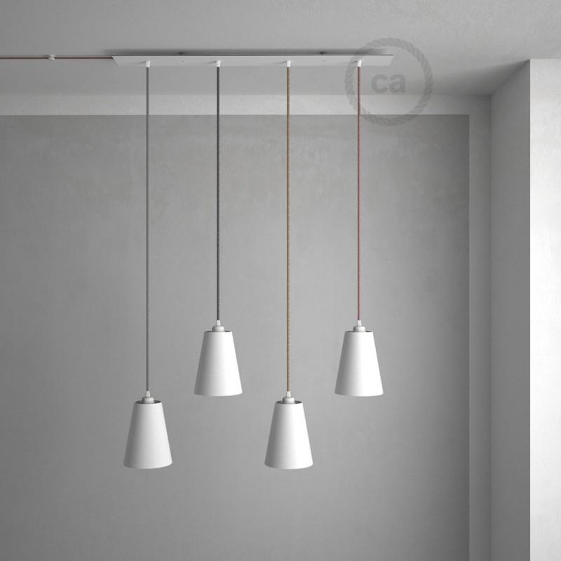 4 loch xxl baldachin rechteckig 90x12 cm wei mit. Black Bedroom Furniture Sets. Home Design Ideas