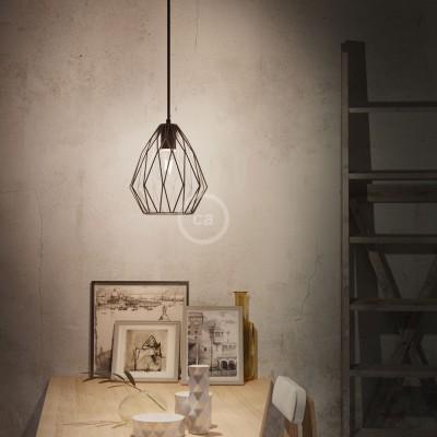 Lampenschirmkäfig Gem metall schwarz für E27 Fassungen