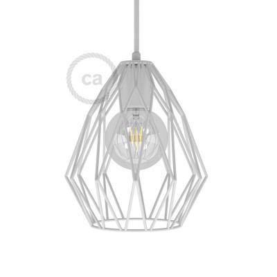 Lampenschirmkäfig Gem metall weiß für E27 Fassungen