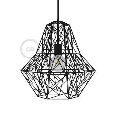 Lampenschirmkäfig XXL Darth metall schwarz für E27 Fassungen