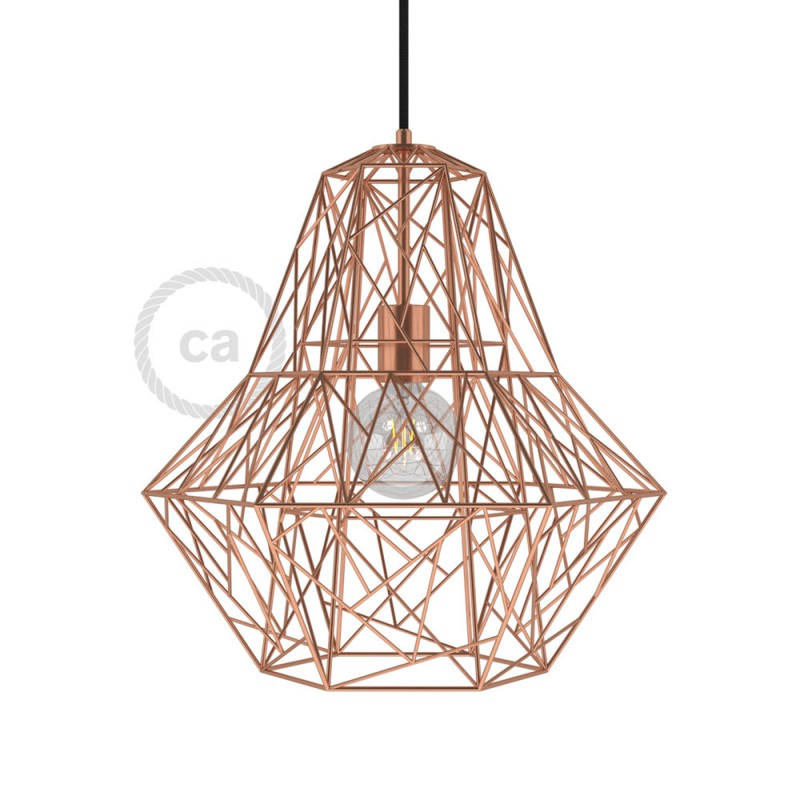 kupfer lampenschirm lampenschirm innen kupfer lampen. Black Bedroom Furniture Sets. Home Design Ideas
