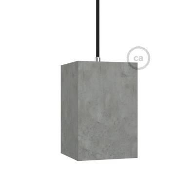 Zementlampenschirm Cubo inkl Zugentlastung und E27 Fassung