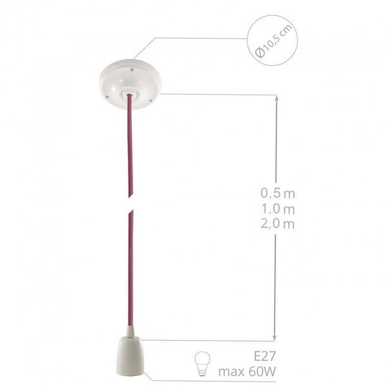 Porzellan Pendelleuchte, Hängelampe Elfenbein Seideneffekt RM00