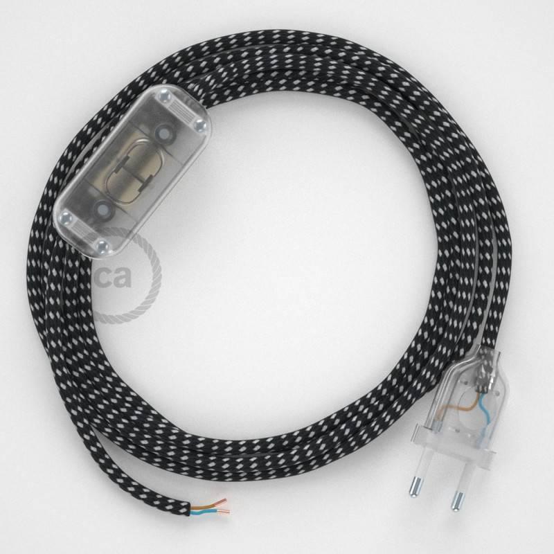 Zuleitung für Tischleuchten RT41 Sternmuster-Hervorhebung Seideneffekt 1,80 m Wählen Sie aus drei Farben bei Schalter und Stecke