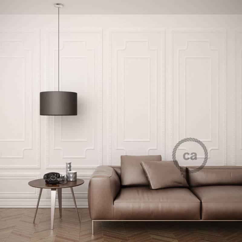 Pendel für Lampenschirm, Hängelampe Elfenbein Seideneffekt RM00