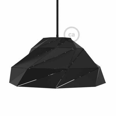 Lampenschirm Nuvola schwarz-matt Metall mit E27 Fassung.