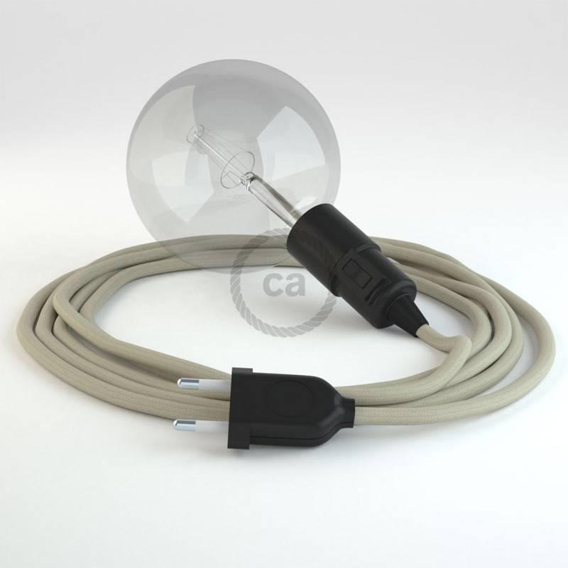 Kreieren sie ihre Snake Leuchte mit dem RC43 Dove Baumwolle und erleuchten sie ihre Umgebung.
