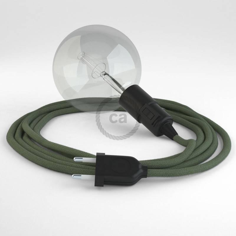 Kreieren sie ihre Snake Leuchte mit dem RC63 Grau Grün Baumwolle und erleuchten sie ihre Umgebung.