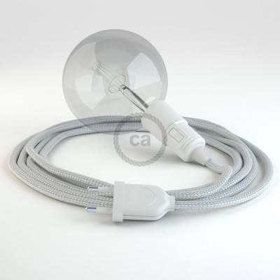 Kreieren sie ihre Snake Leuchte mit dem RM02 Silber Seideneffekt und erleuchten sie ihre Umgebung.