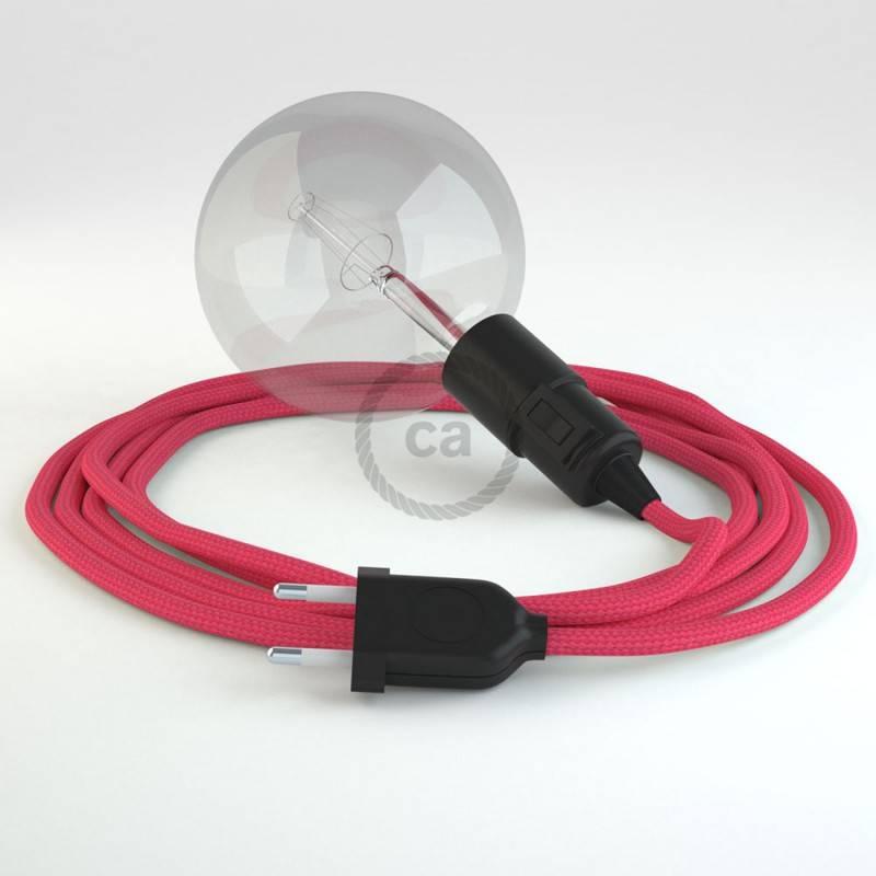 Kreieren sie ihre Snake Leuchte mit dem RM08 Fuchsia Seideneffekt und erleuchten sie ihre Umgebung.