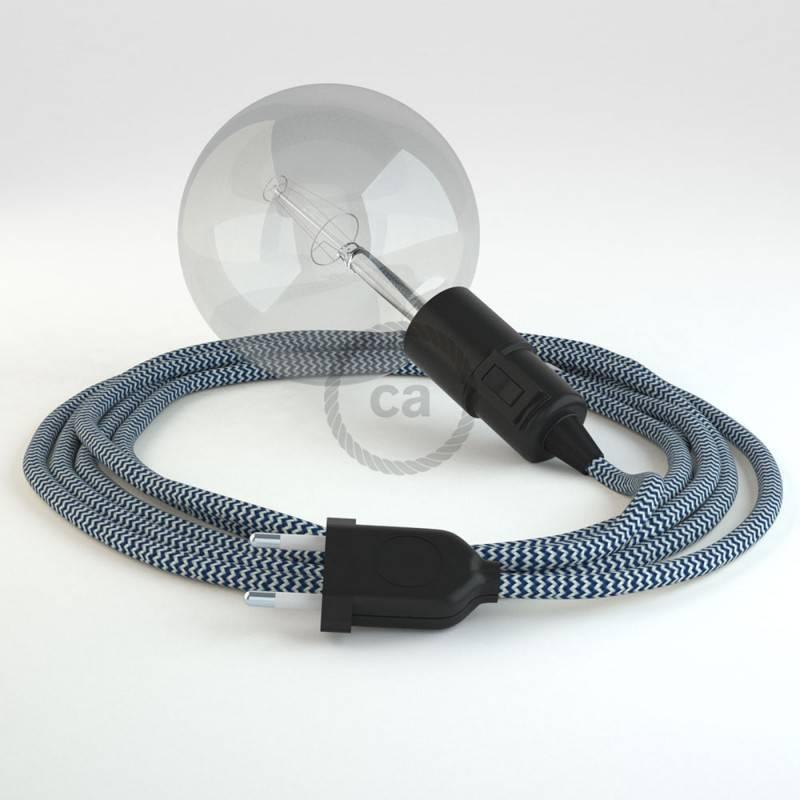 Kreieren sie ihre Snake Leuchte mit dem RZ12 Zick Zack Blau und erleuchten sie ihre Umgebung.