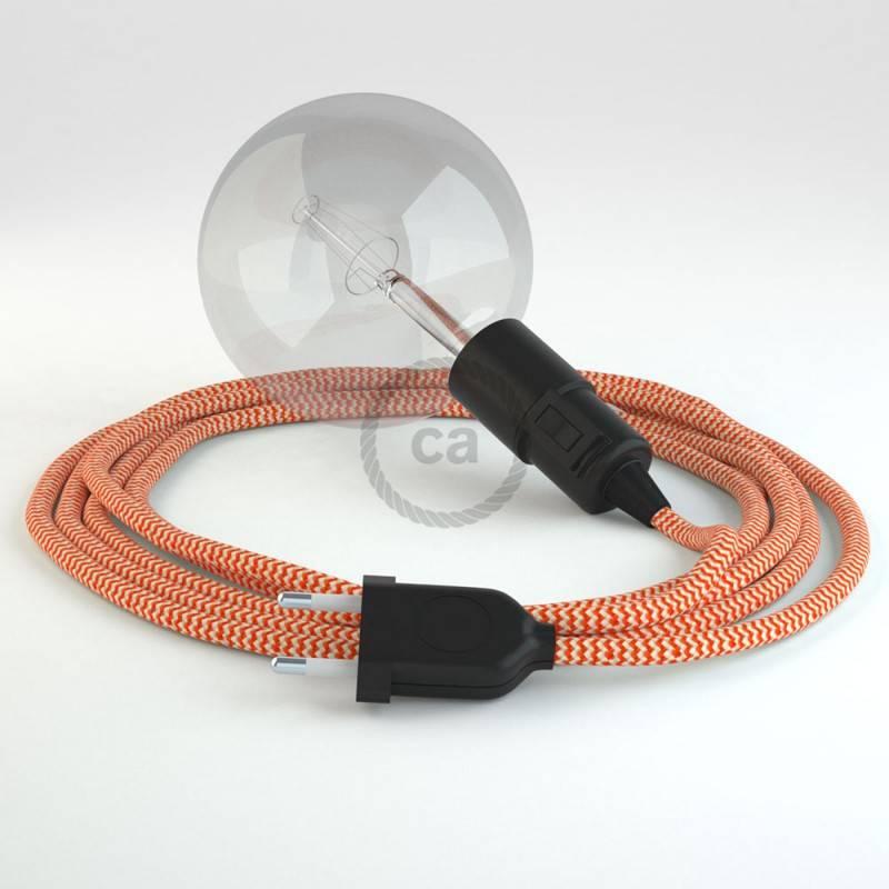 Kreieren sie ihre Snake Leuchte mit dem RZ15 Zick Zack Orange und erleuchten sie ihre Umgebung.