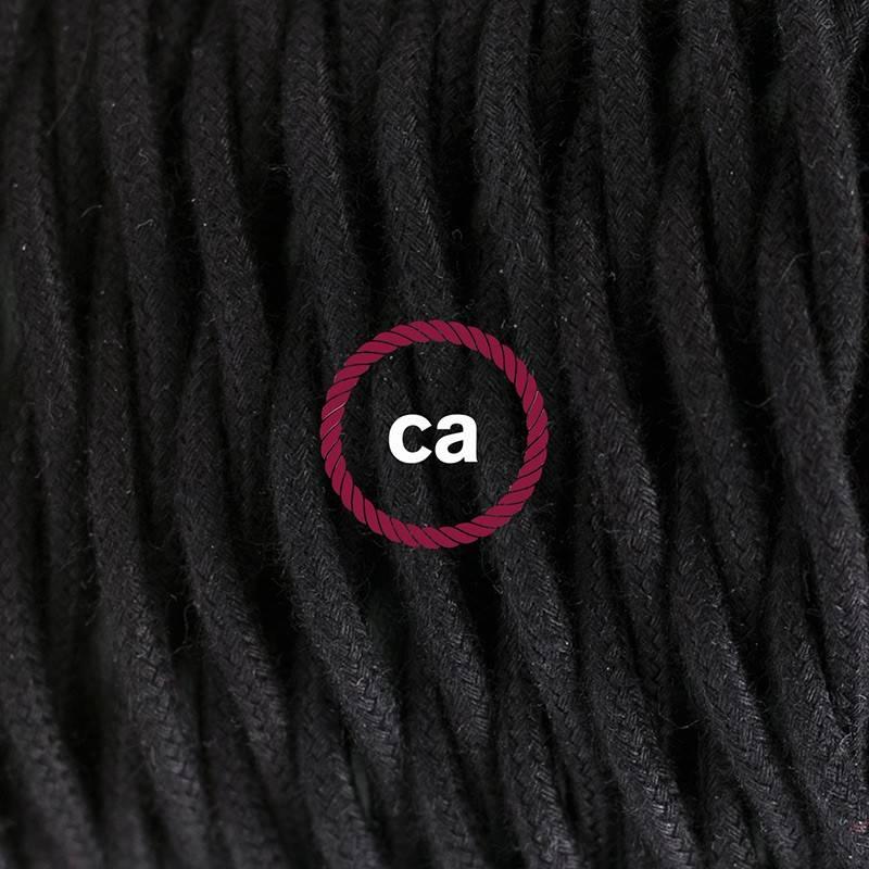 Kreieren sie ihre Snake Leuchte mit dem TC04 Schwarz Baumwolle und erleuchten sie ihre Umgebung.