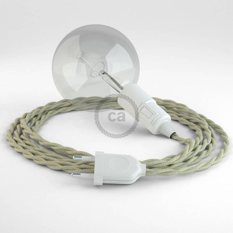 Kreieren sie ihre Snake Leuchte mit dem TC43 Dove Baumwolle und erleuchten sie ihre Umgebung.