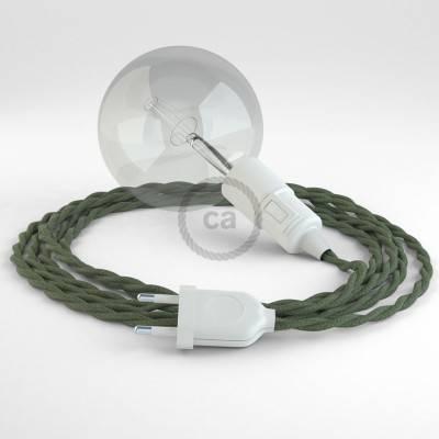 Kreieren sie ihre Snake Leuchte mit dem TC63 Grau Grün Baumwolle und erleuchten sie ihre Umgebung.