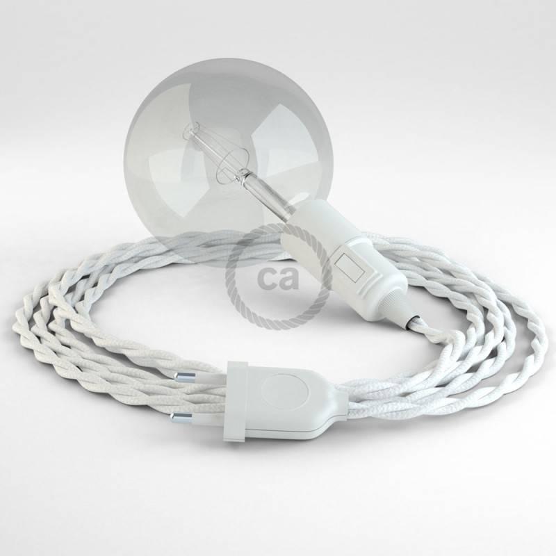 Kreieren sie ihre Snake Leuchte mit dem TM01 Weiß Seideneffekt und erleuchten sie ihre Umgebung.