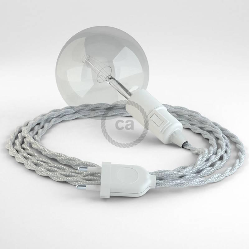 Kreieren sie ihre Snake Leuchte mit dem TM02 Silber Seideneffekt und erleuchten sie ihre Umgebung.