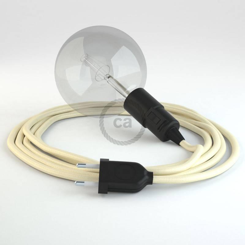 Kreieren sie ihre Snake Leuchte mit dem RM00 Elfenbein Seideneffekt und erleuchten sie ihre Umgebung.